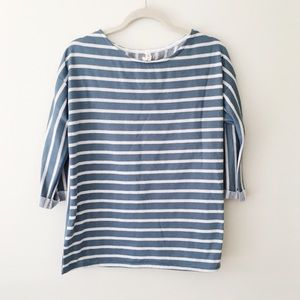 Sweaters - aqua striped sweater